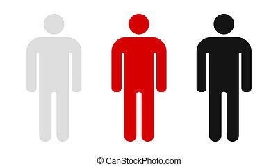 People icon. Leader icon on white background, minimal design. 3d illustration