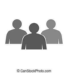 people icon on white background.