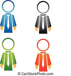 people tech, salesman icon