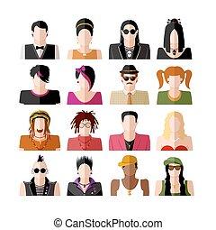 People icon set