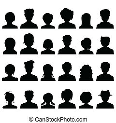 People Icon Silhouette - illustration of silhouette style...