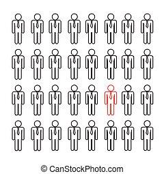 people icon think different Illustration design