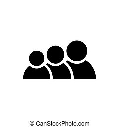 People icon. Vector group of humans sign