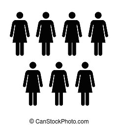 People Icon - Vector Group of Women Team