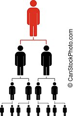 People icon vector illustration eps10. Organization chart...