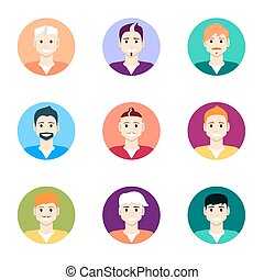 People icons. People Flat icons collection.