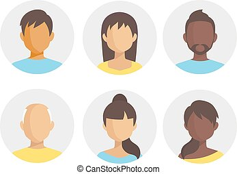 People icons. People Flat icons set vector.