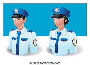 people icons : policeman