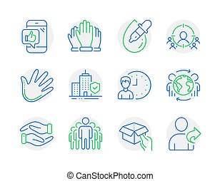 People icons set. Included icon as Business targeting, ...