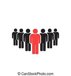 People icons set isolated on white background