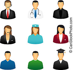 People icons - Set of people icons that represent various...