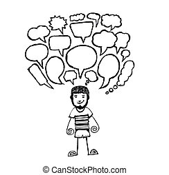 people icons speech bubbles