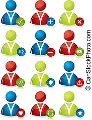 People icons with features
