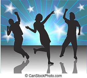 people in a disco