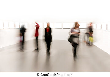 People in arts exhibition