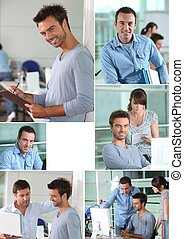 People in business collage