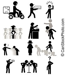 People in business - Vector illustration of a people in ...