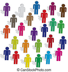 people in color