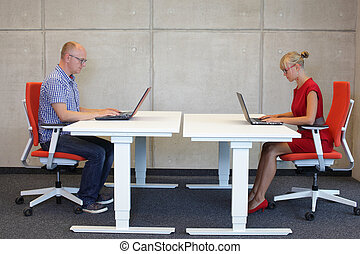 people in correct sitting position