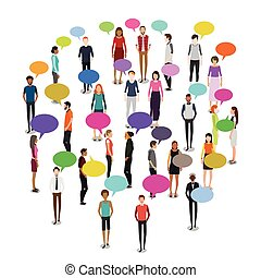 People in Crowd Illustration