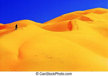 People in desert.