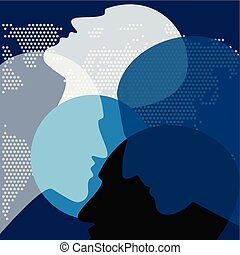 People in discussion. Vector ilustration.