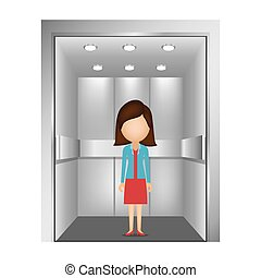 people in elevator design