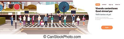 people in masks holding placard and megaphone city street cityscape background nature air pollution protesting concept horizontal copy space