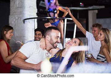 People in night club