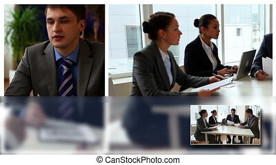 People in office - Business group planning work in office