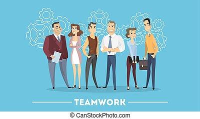 People in team.