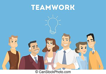 People in team.