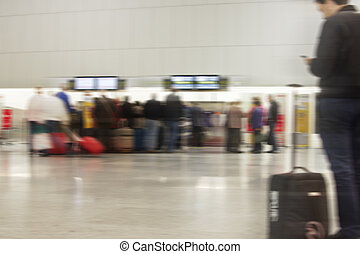 People Traveling - People in the airport. People Traveling