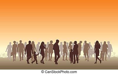 People in the horizon