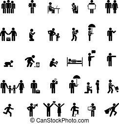 people in various poses