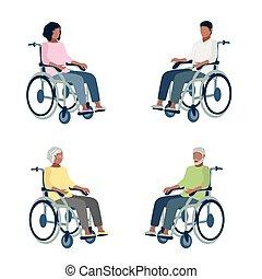people in wheelchair set