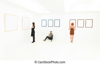people interested in art