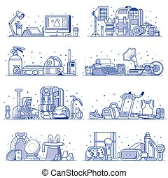 People Interests, Hobbies and Profession Icons