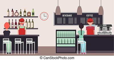 people interior coffee shop or bar restaurant