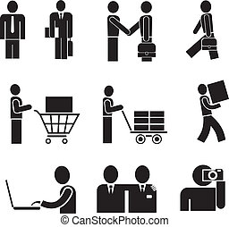 People - isolated vector icons