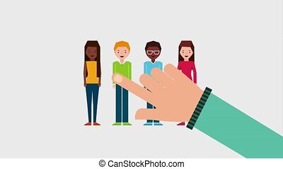 people job related - choosing hand resources human group...