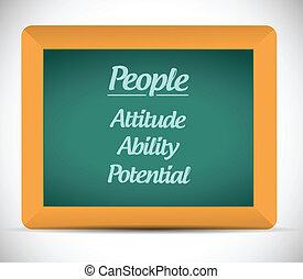 people keys on a chalkboard. illustration design over a...