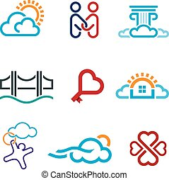 People know no limits in creativity creation app icon set