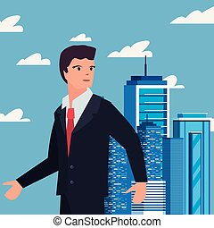 people labour day - businessman with board labour day vector...