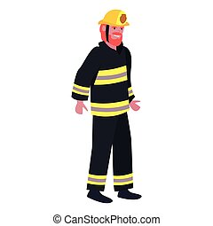 people labour day - fireman profession labour day vector...