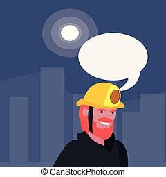 people labour day - fireman speech bubble labour day vector...