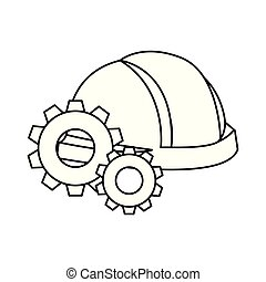 people labour day - helmet and gears labour day vector...