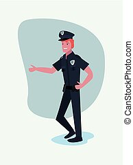 people labour day - policeman profession labour day vector...