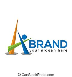 People Letter A Logo. Vector Illustration on white background