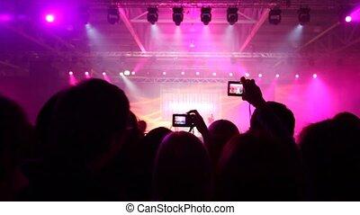 People look concert of popular music